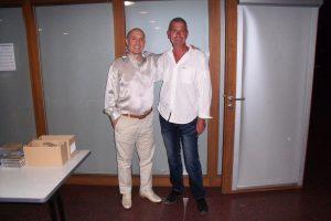 Michel PÉPÉ et son ami compositeur Damien DUBOIS