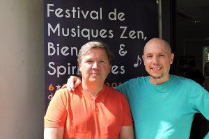 Michel PÉPÉ et son ami compositeur LOGOS (Stephen SICARD)
